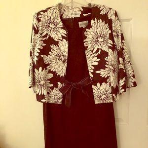 Classic two piece dress and blazer Women's